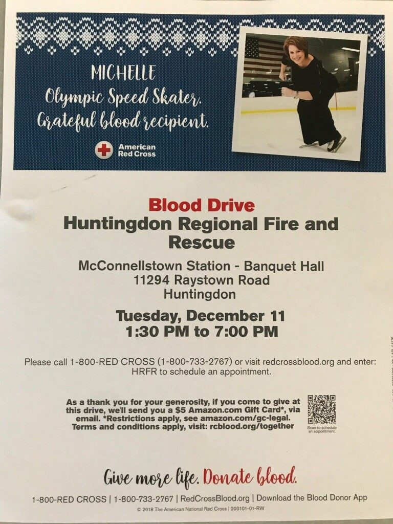 HRFR to Hold Blood Drive!!